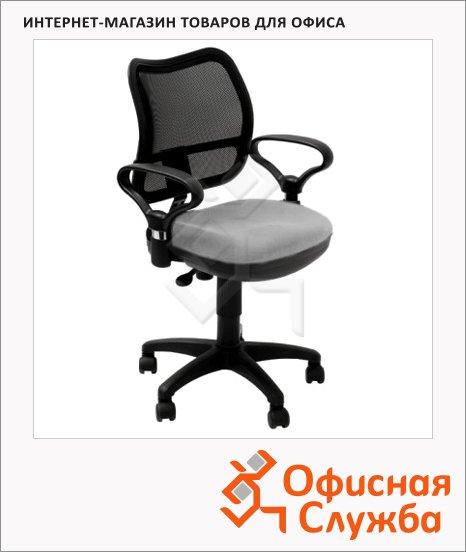 Кресло офисное Бюрократ CH-797AXSN ткань, черная, крестовина пластик, серая