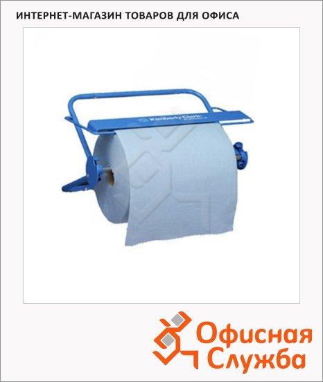 Держатель для протирочной бумаги в рулонах Kimberly-Clark 6146, настенный, синий