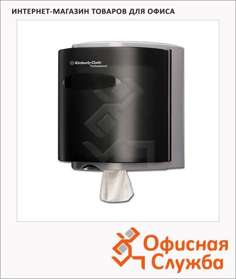Диспенсер настенный для протирочных материалов Kimberly-Clark Industry 7928, черный, 26х31х24см
