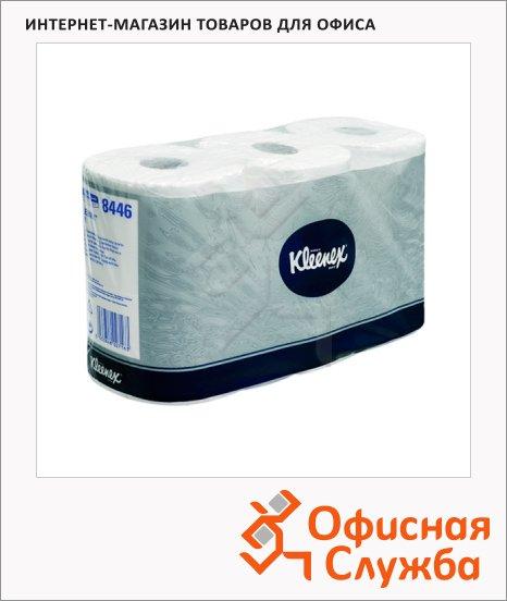 Туалетная бумага Kimberly-Clark Kleenex без аромата, белая, 2 слоя, 6 рулонов, 600 листов, 12х9.5см