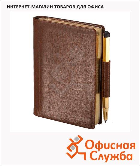 фото: Записная книжка Brunnen Мини Ля Фонтейн коричневая А7, 128 листов, 5.6х8.3см