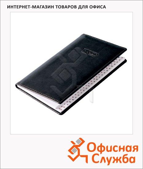 Телефонная книга Brunnen Софт А6, 48 листов, кожзам, черная