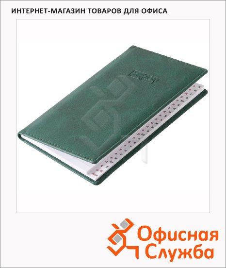 Телефонная книга Brunnen Торино А6, 48 листов, кожзам, зеленая