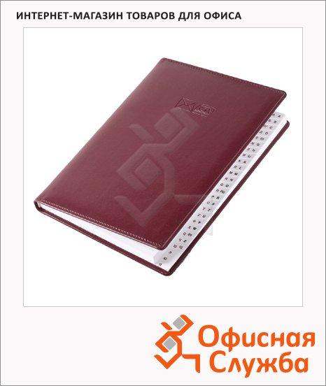 Телефонная книга Brunnen Софт А5, бордовая, 96 листов, кожзам