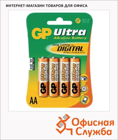 фото: Батарейка Gp Ultra AA/LR6 1.5В, алкалиновые, 4шт/уп