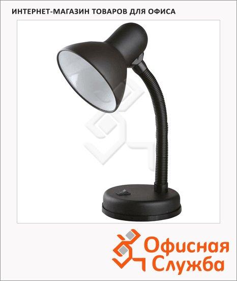 Светильник настольный Camelion KD-301 Е27 черный, на подставке, накаливания/энергосберегающая