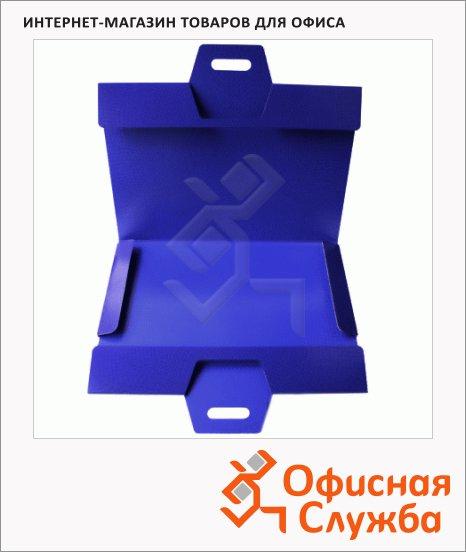 фото: Картонная папка на резинке синяя А3, до 150 листов, 252