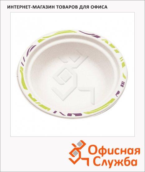 Миска одноразовая Chinet Duet d=17см, белая, 50шт/уп