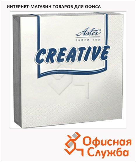 Салфетки сервировочные Aster Creative белые, 33х33см, 3 слоя, 20шт