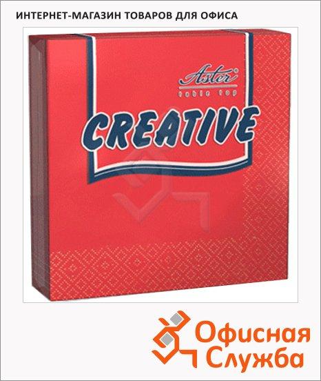 Салфетки сервировочные Aster Creative красные, 33х33см, 3 слоя, 20шт