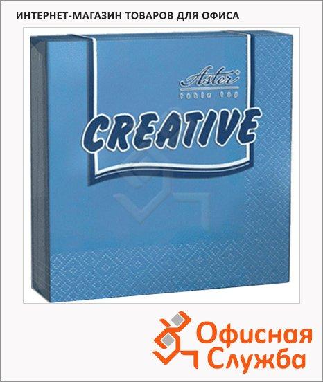 Салфетки Aster Creative синие, 33х33см, 3 слоя, 20шт