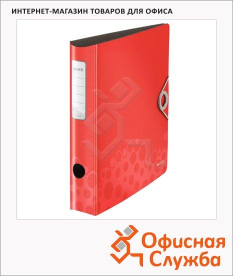фото: Папка-регистратор А4 Leitz 180° Active Bebop красная 50 мм, 10480025