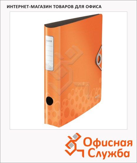 фото: Папка-регистратор А4 Leitz 180° Active Bebop оранжевая 50 мм, 10480045