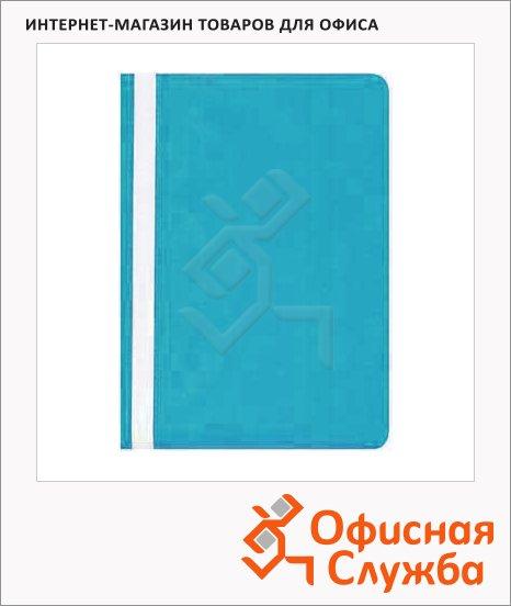 фото: Скоросшиватель пластиковый Бюрократ голубой А4, PS20AZURE