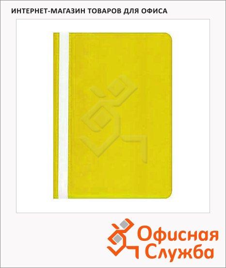 фото: Скоросшиватель пластиковый Бюрократ желтый А4, PS20YEL