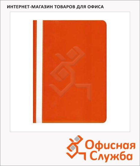 Скоросшиватель пластиковый Бюрократ красный, А4, PS20RED