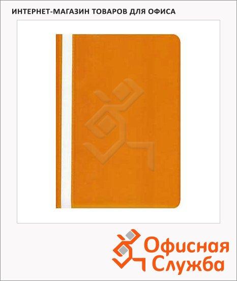Скоросшиватель пластиковый Бюрократ оранжевый, А4, PS20OR