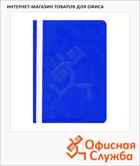 Скоросшиватель пластиковый Бюрократ синий, А4, PS20BLUE
