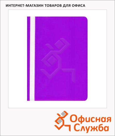 фото: Скоросшиватель пластиковый Бюрократ фиолетовый А4, PS20VIO
