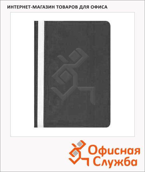 Скоросшиватель пластиковый Бюрократ черный, А4, PS20BLCK