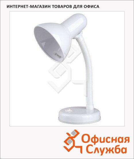 Светильник настольный Camelion KD-301 Е27 белый, на подставке, накаливания/энергосберегающая