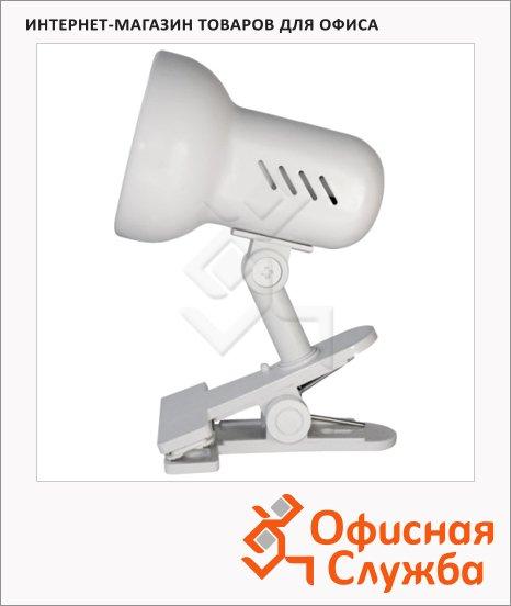 Светильник настольный Camelion H-035 белый, на прищепке, накаливания/энергосберегающая