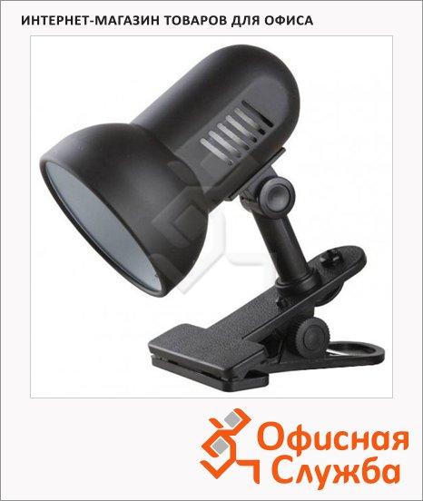 фото: Светильник настольный Camelion H-035 черный на прищепке, накаливания/энергосберегающая