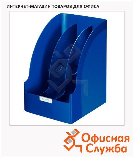 фото: Накопитель вертикальный для бумаг Leitz Plus Jumbo А4 3 секции, 70мм, синий, 52390035
