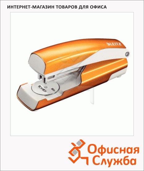Степлер Leitz NeXXt №24/6, 26/6, до 30 листов, + 200 скоб, оранжевый