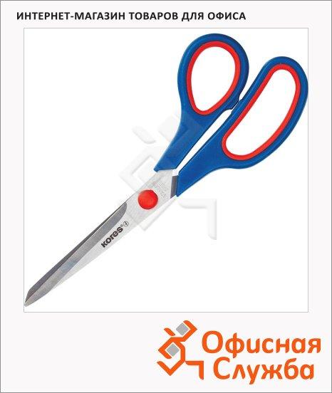 фото: Ножницы Kores 21см красно-синие, эргономичные ручки, 35210
