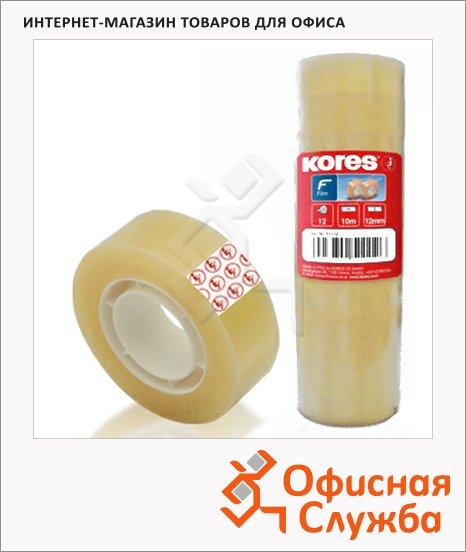 Клейкая лента канцелярская Kores Tauer 12мм х33м, прозрачная, 12шт/уп