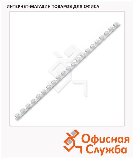 Пружины для переплета пластиковые Gbc белые, на 1-30 листов, 6мм, 100шт, кольцо
