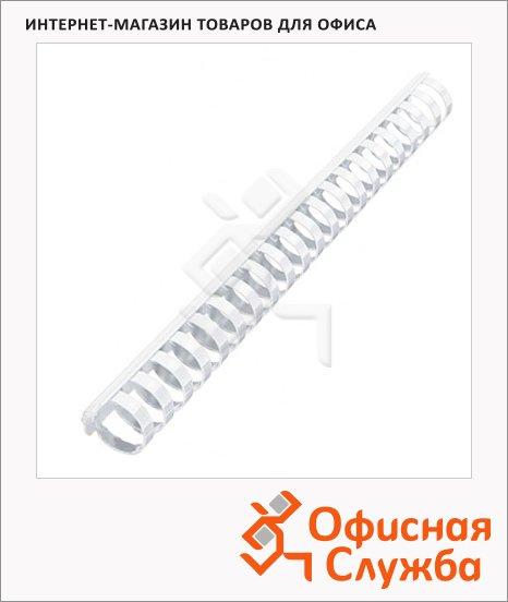 фото: Пружины для переплета пластиковые Gbc белые на 210-240 листов, 25мм, 50шт, кольцо