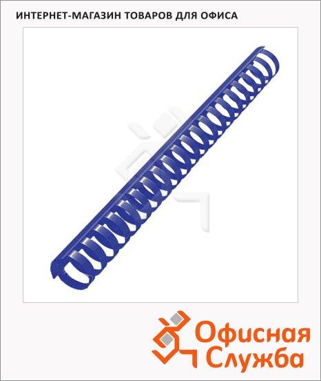 фото: Пружины для переплета пластиковые на 210-240 листов на 210-240 листов, 25мм, 50шт, кольцо, синие
