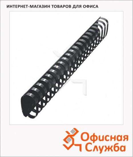 Пружины для переплета пластиковые Gbc черные, на 420-500 листов, овал, 51мм, 50шт