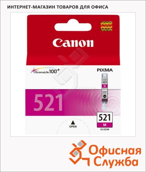 фото: Картридж струйный Canon CLI-521M пурпурный, (2935B004)