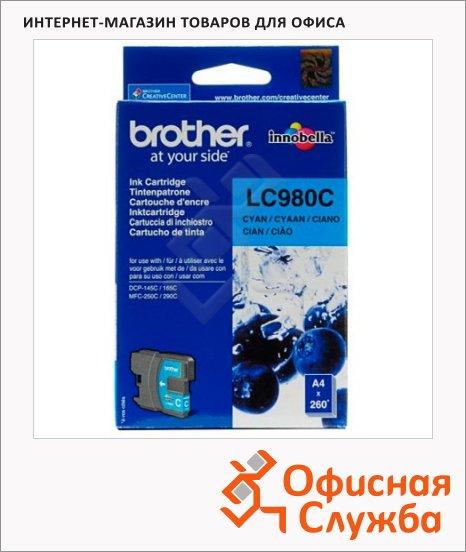 фото: Картридж струйный Brother LC980C голубой