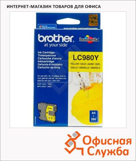 Картридж струйный Brother LC980Y, желтый
