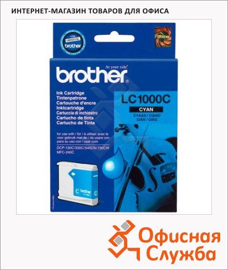 Картридж струйный Brother LC1000C, голубой