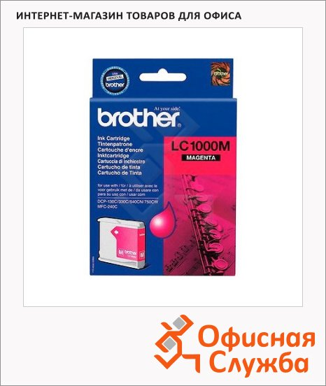 Картридж струйный Brother LC1000M, пурпурный