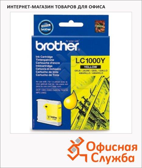 Картридж струйный Brother LC1000Y, желтый