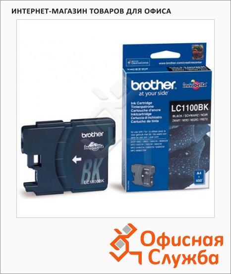 Картридж струйный Brother LC1100HBK/HYY/HYM/HYC/BK/Y/M/C LC1100BK, черный