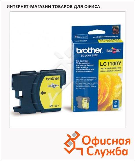 Картридж струйный Brother LC1100HBK/HYY/HYM/HYC/BK/Y/M/C LC1100Y, желтый