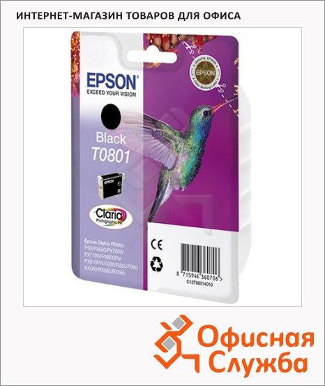 Картридж струйный Epson C13 T0801 4011, черный