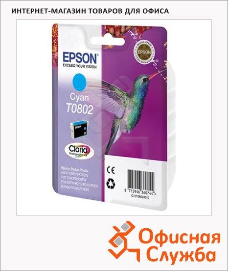 фото: Картридж струйный Epson C13 T0802 4011 голубой