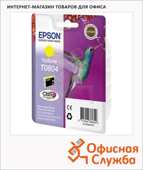 фото: Картридж струйный Epson C13 T0804 4011 желтый