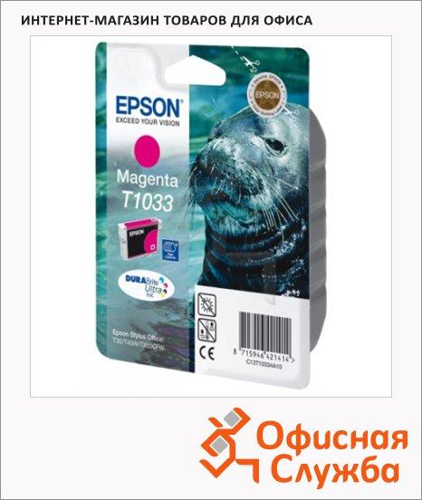 Картридж струйный Epson C13T10334 A10, пурпурный