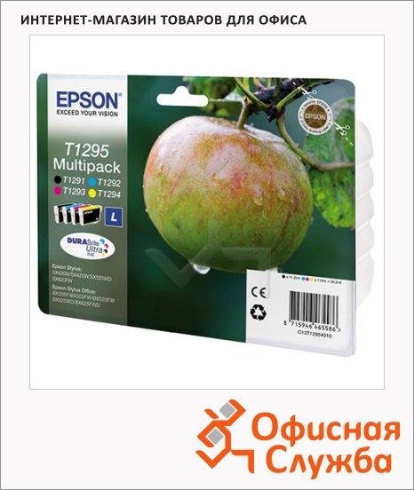 Картридж струйный Epson C13 T12954011, 4 цвета, 4шт/уп