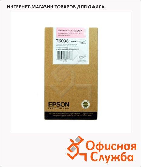 Картридж струйный Epson C13 T603C00, светло-пурпурный