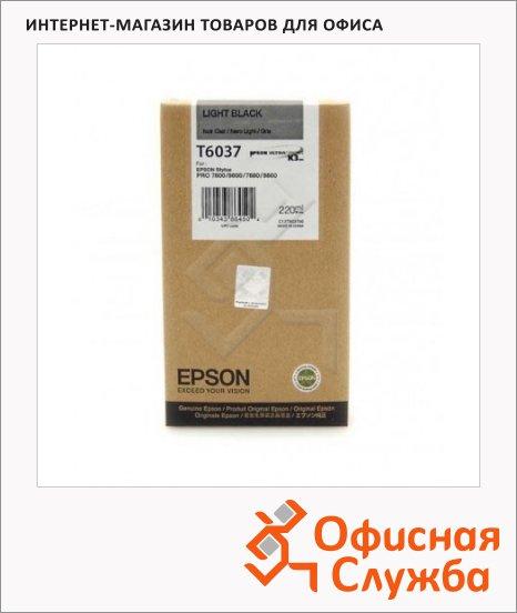 фото: Картриджи струйные Epson C13 T603700 серый